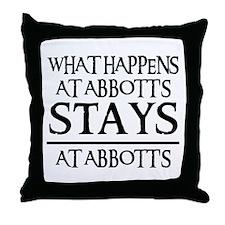 STAYS AT ABBOTT'S Throw Pillow