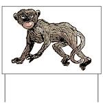 Creepy Monkey Yard Sign