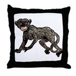 Creepy Monkey Throw Pillow
