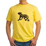 Creepy Monkey Yellow T-Shirt