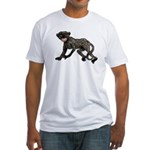 Creepy Monkey Fitted T-Shirt