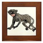 Creepy Monkey Framed Tile