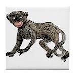 Creepy Monkey Tile Coaster