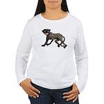 Creepy Monkey Women's Long Sleeve T-Shirt