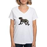 Creepy Monkey Women's V-Neck T-Shirt