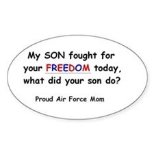 Freedom - Mom Oval Decal