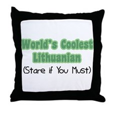 World's Coolest Lithuanian Throw Pillow