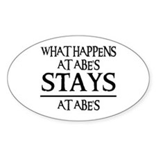 STAYS AT ABE'S Oval Decal