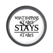 STAYS AT ABE'S Wall Clock