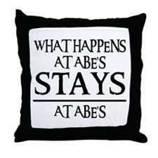 STAYS AT ABE'S Throw Pillow