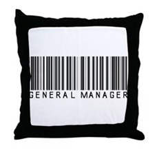 General Manager Barcode Throw Pillow