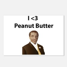 I <3 Peanut Butter Postcards (Package of 8)