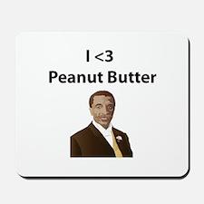 I <3 Peanut Butter Mousepad