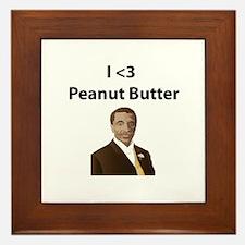 I <3 Peanut Butter Framed Tile