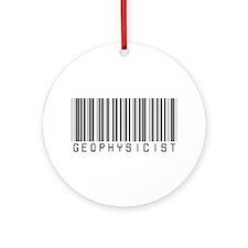 Geophysicist Barcode Ornament (Round)