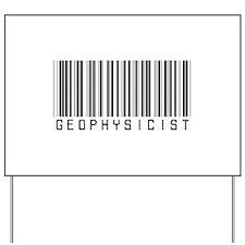 Geophysicist Barcode Yard Sign