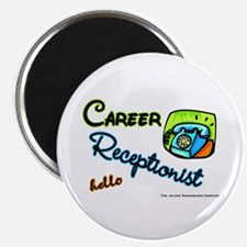 Career Receptionist Magnet