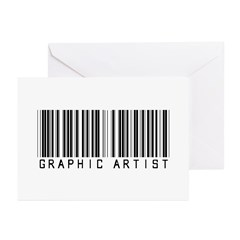 Graphic Artist Barcode Greeting Cards (Pk of 20)