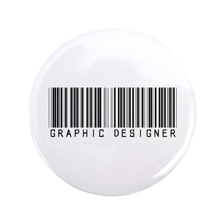 "Graphic Designer Barcode 3.5"" Button (100 pack)"