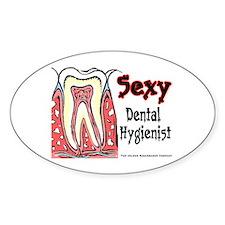 Sexy Dental Hygienist 2005 Oval Sticker