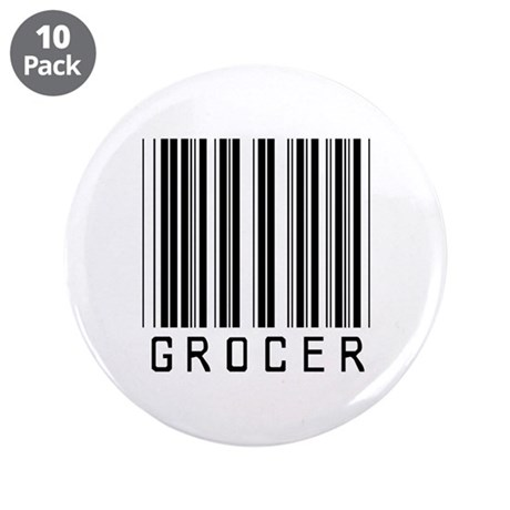 """Grocer Barcode 3.5"""" Button (10 pack)"""