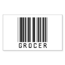 Grocer Barcode Rectangle Decal