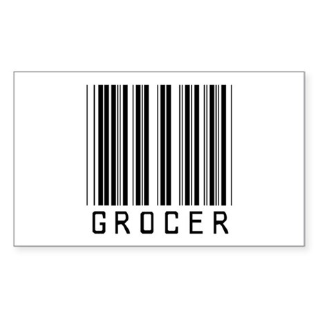 Grocer Barcode Rectangle Sticker
