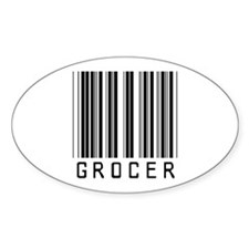Grocer Barcode Oval Decal