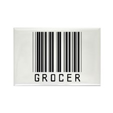 Grocer Barcode Rectangle Magnet