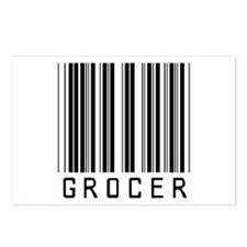 Grocer Barcode Postcards (Package of 8)