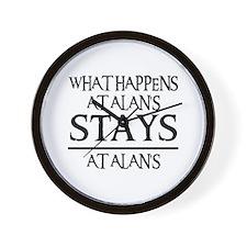 STAYS AT ALAN'S Wall Clock