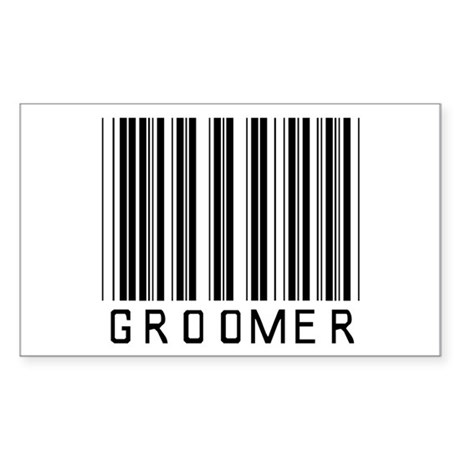 Groomer Barcode Rectangle Sticker