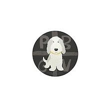 Grey & White PBGV Mini Button (10 pack)