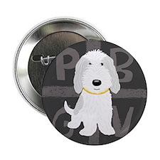 "Grey & White PBGV 2.25"" Button (100 pack)"