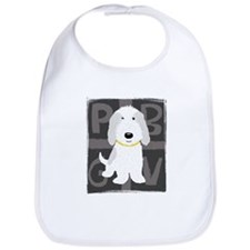 Grey & White PBGV Bib