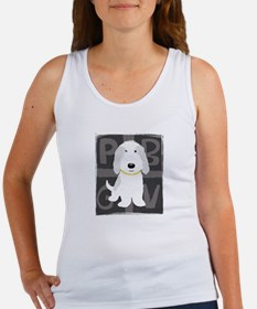Grey & White PBGV Women's Tank Top