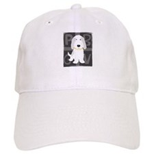 Grey & White PBGV Baseball Cap