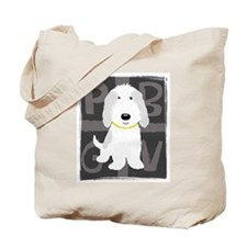 Grey & White PBGV Tote Bag