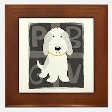 Grey & White PBGV Framed Tile