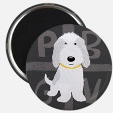 Grey & White PBGV Magnet