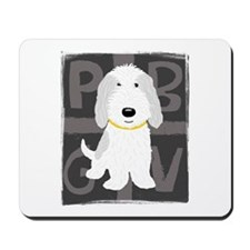 Grey & White PBGV Mousepad