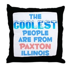 Coolest: Paxton, IL Throw Pillow