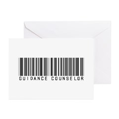 Guidance Counselor Barcode Greeting Cards (Pk of 2