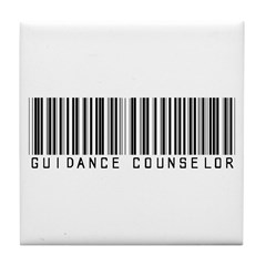Guidance Counselor Barcode Tile Coaster