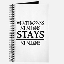 STAYS AT ALLEN'S Journal