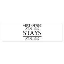 STAYS AT ALLEN'S Bumper Bumper Sticker