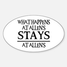 STAYS AT ALLEN'S Oval Decal
