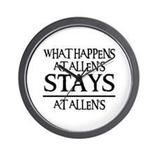 STAYS AT ALLEN'S Wall Clock