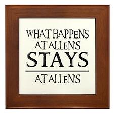 STAYS AT ALLEN'S Framed Tile