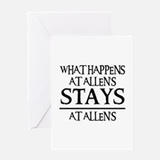 STAYS AT ALLEN'S Greeting Card